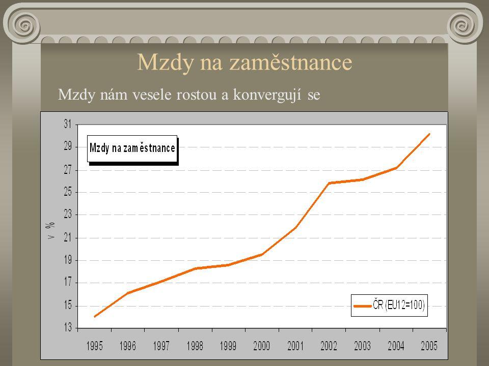 Meziroční růst HDP / obyv (kurz) a mezd