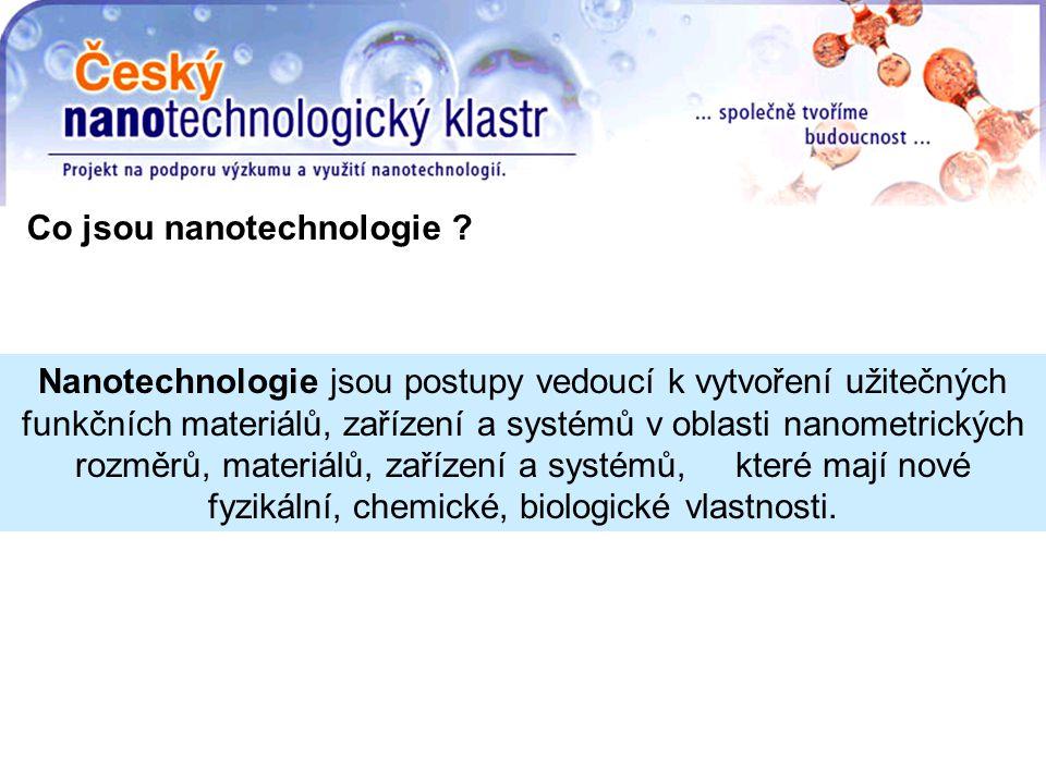 Co jsou nanotechnologie .
