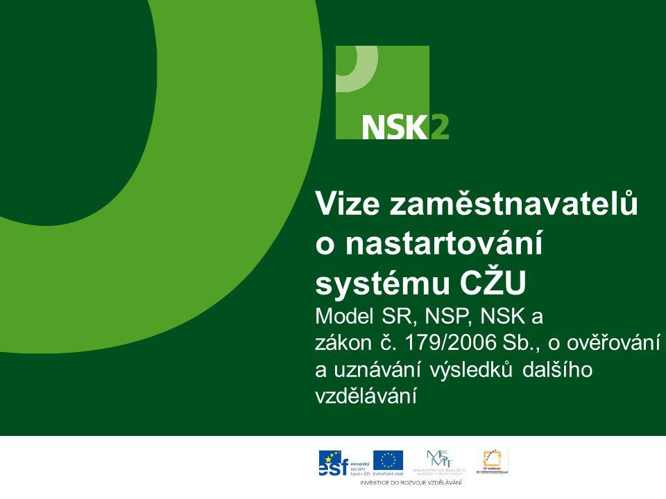Vize zaměstnavatelů o nastartování systému CŽU Model SR, NSP, NSK a zákon č.