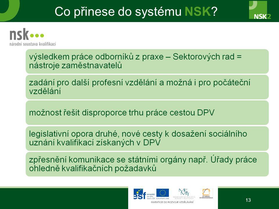Co přinese do systému NSK 13