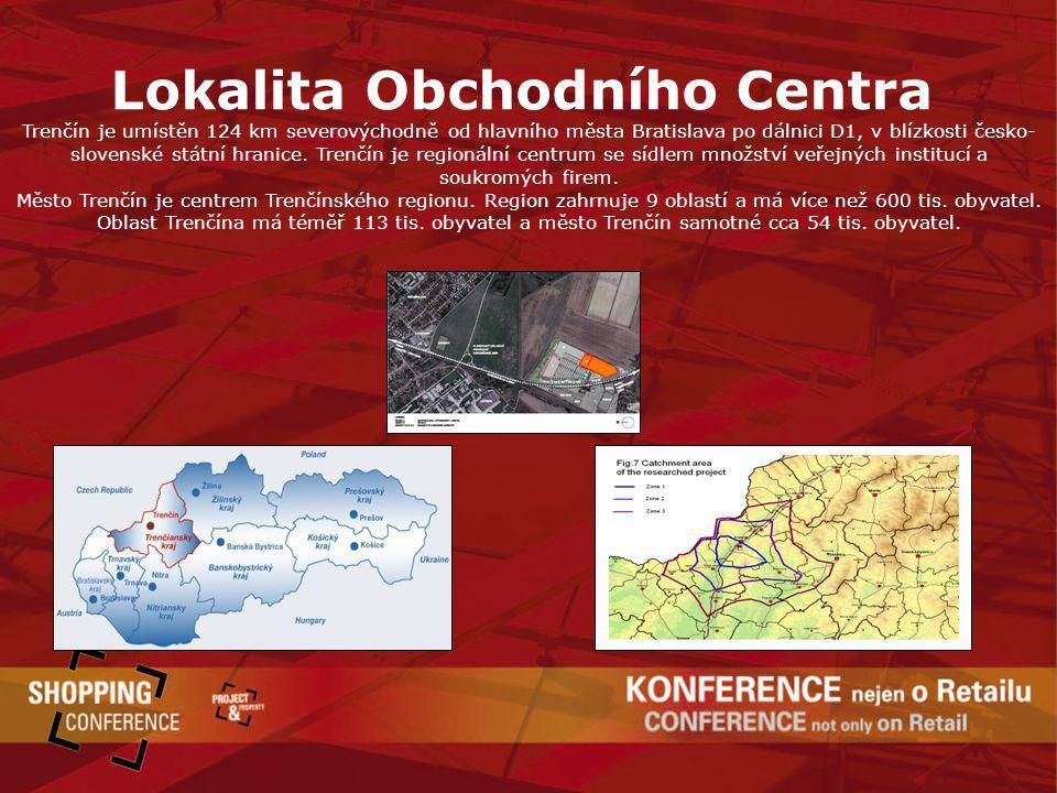 Lokalita Obchodního Centra Trenčín je umístěn 124 km severovýchodně od hlavního města Bratislava po dálnici D1, v blízkosti česko- slovenské státní hr