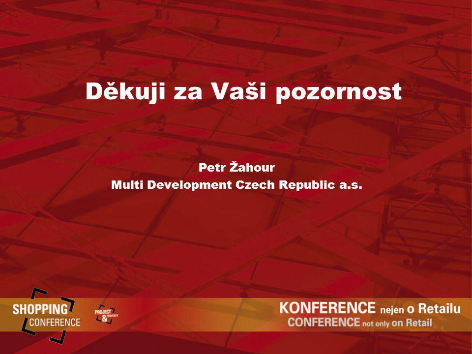 Děkuji za Vaši pozornost Petr Žahour Multi Development Czech Republic a.s.