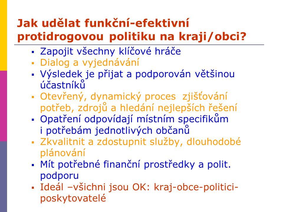 Jak udělat funkční-efektivní protidrogovou politiku na kraji/obci.