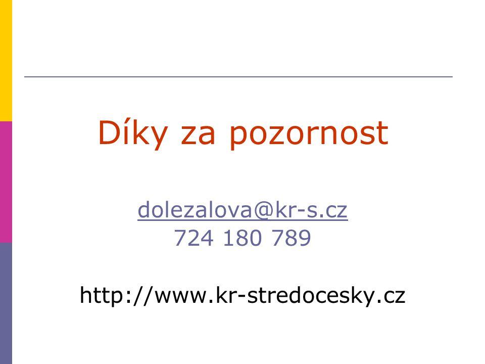 Díky za pozornost dolezalova@kr-s.cz 724 180 789 http://www.kr-stredocesky.cz