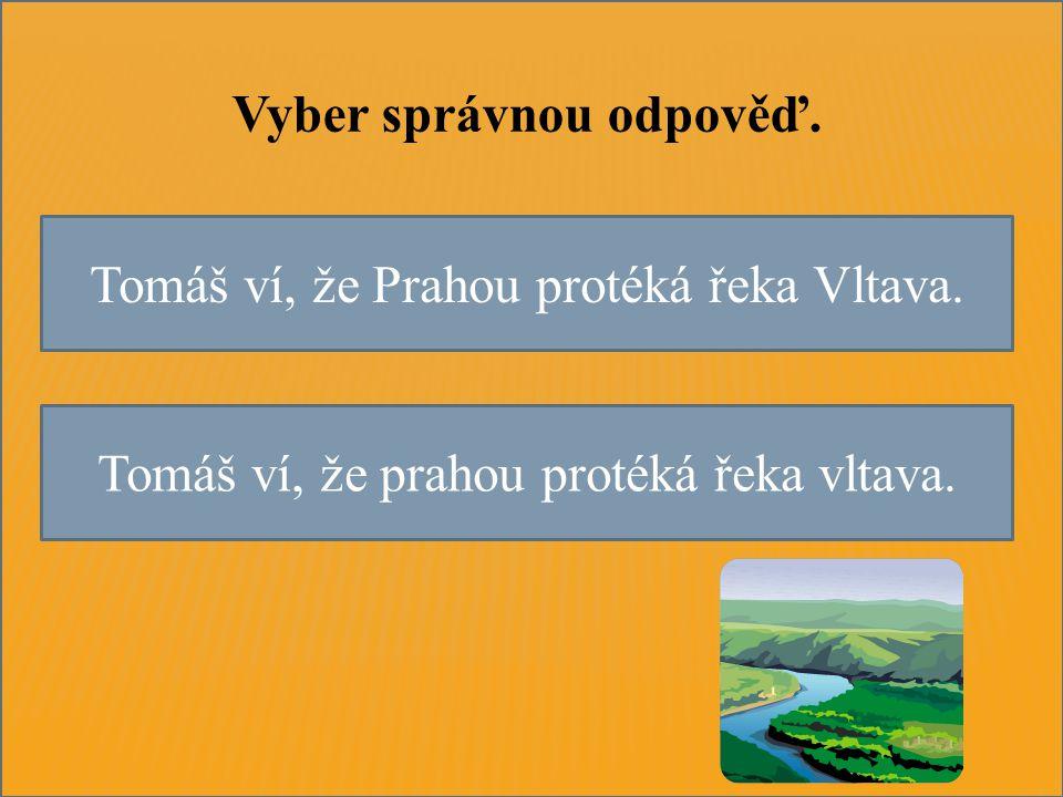 Tomáš ví, že Prahou protéká řeka Vltava. Tomáš ví, že prahou protéká řeka vltava.