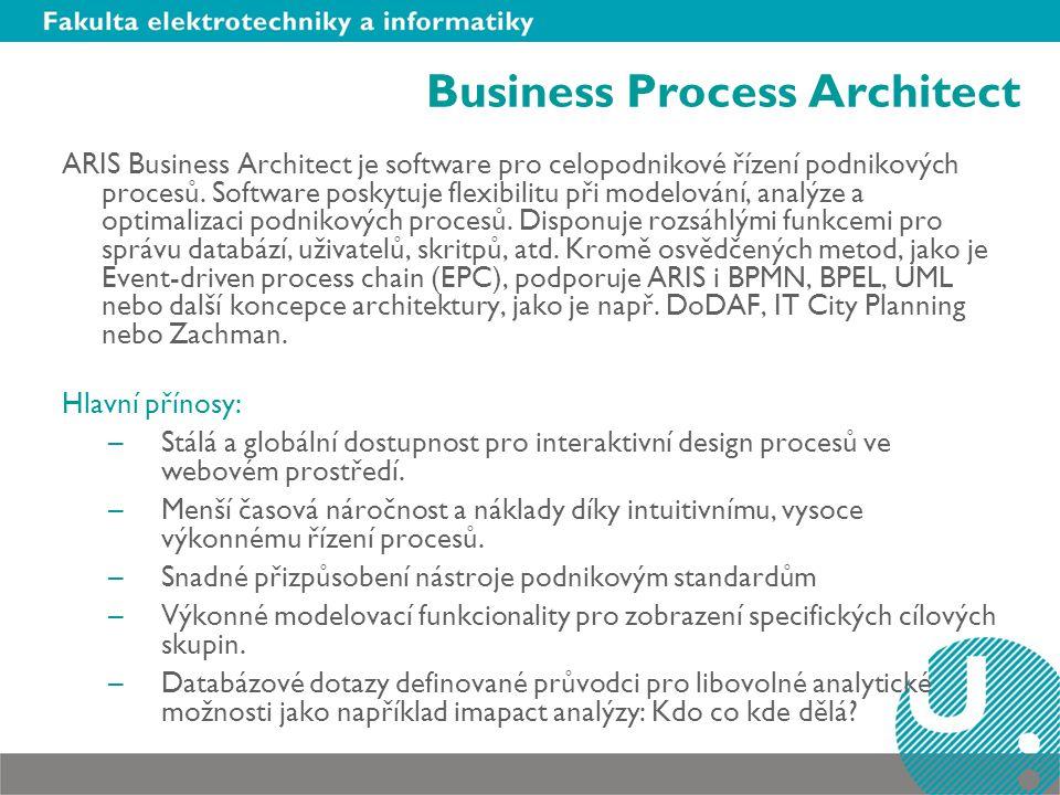 ARIS Business Architect je software pro celopodnikové řízení podnikových procesů.