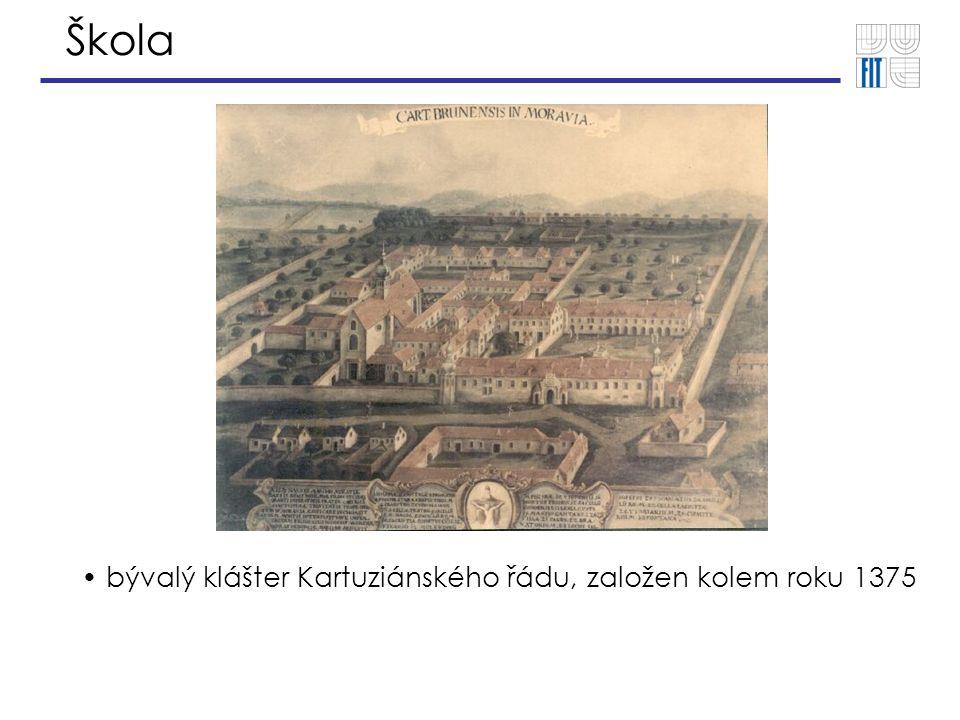 Škola bývalý klášter Kartuziánského řádu, založen kolem roku 1375