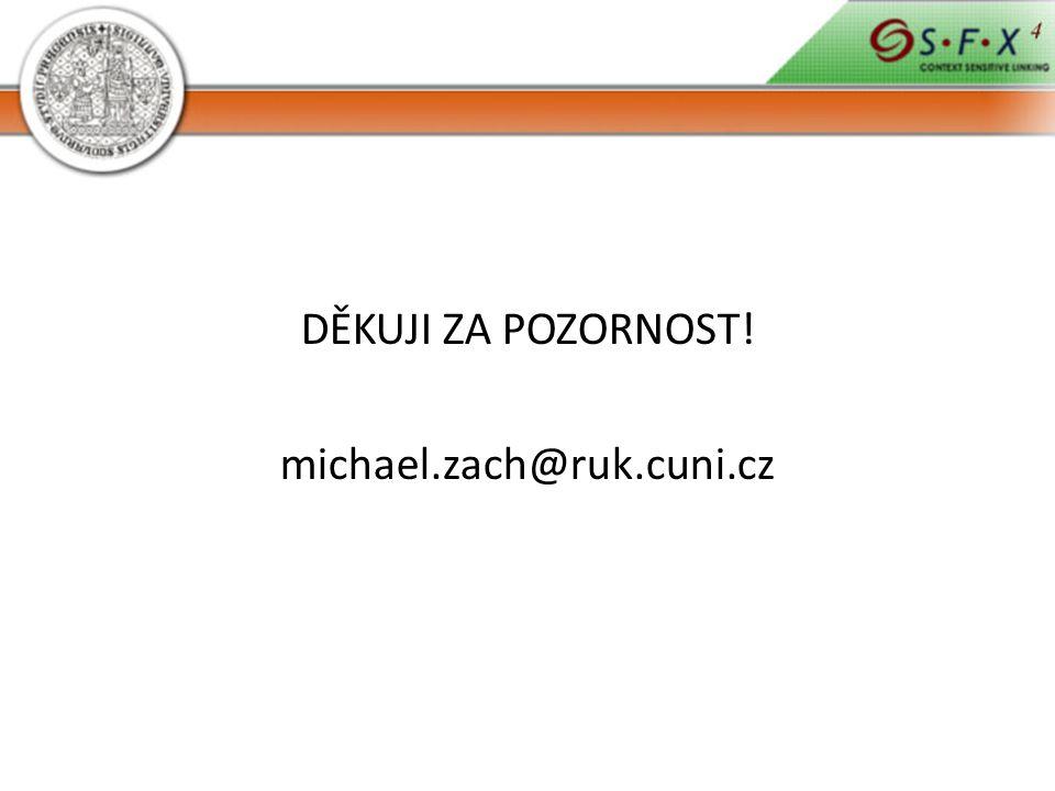DĚKUJI ZA POZORNOST! michael.zach@ruk.cuni.cz