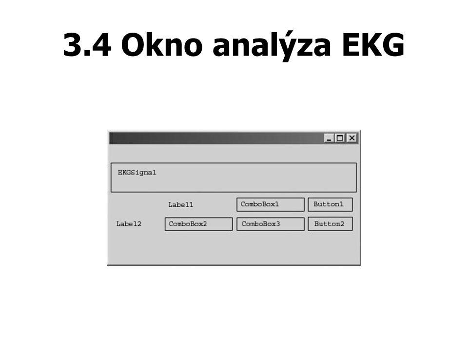 3.4 Okno analýza EKG
