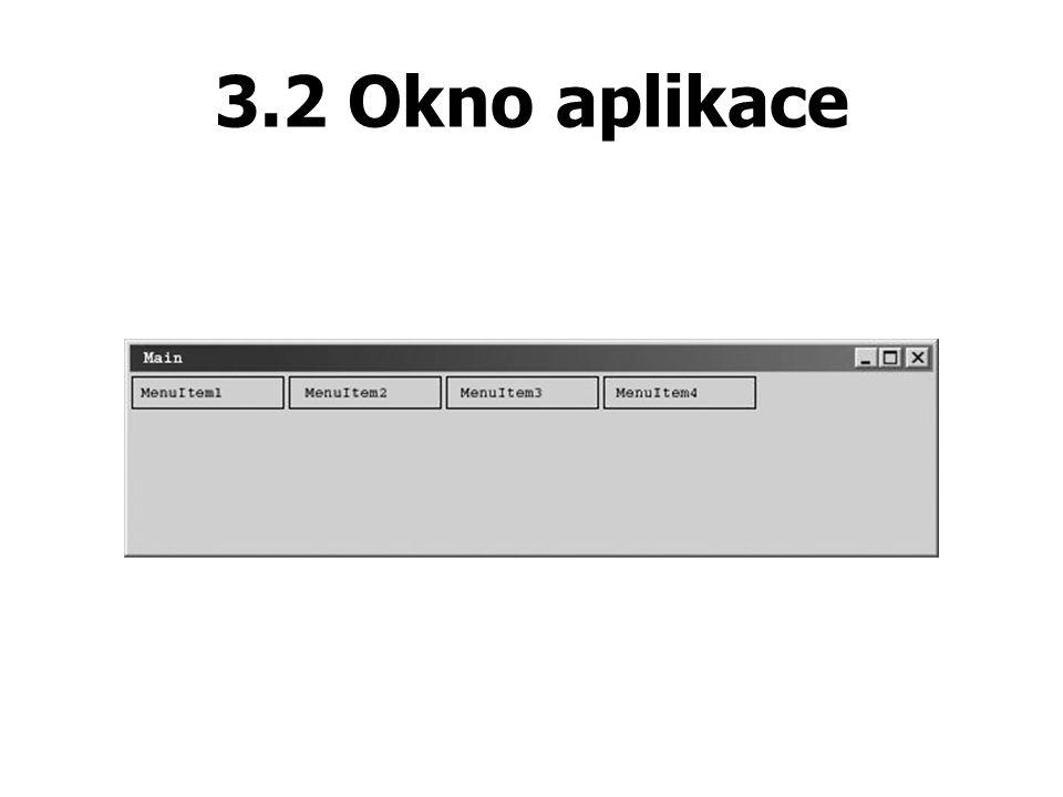 3.2 Okno aplikace