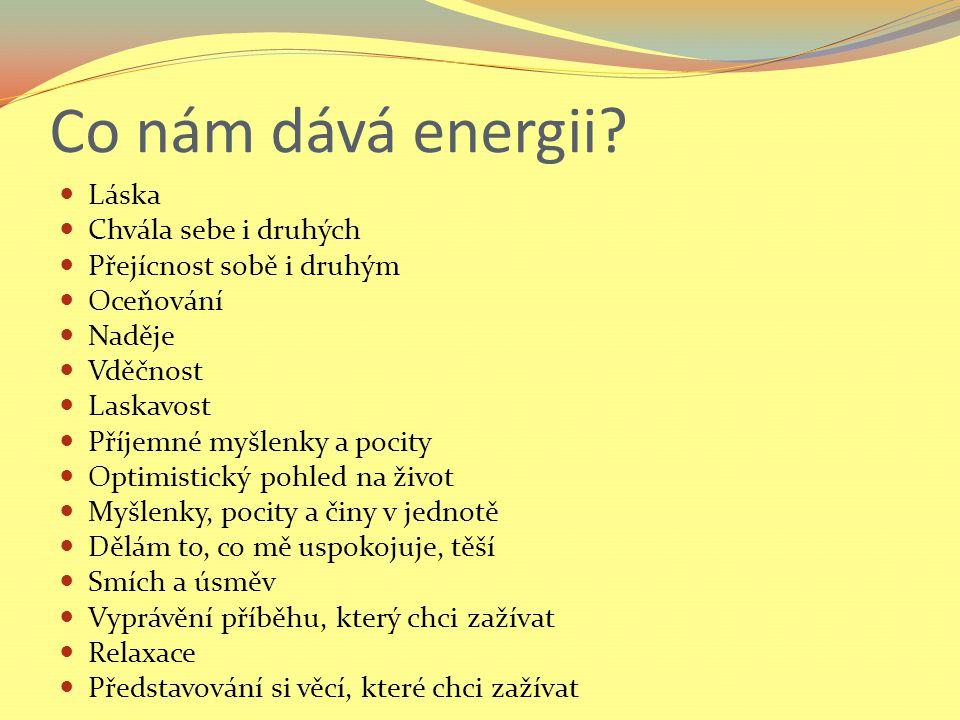 Co nám dává energii.