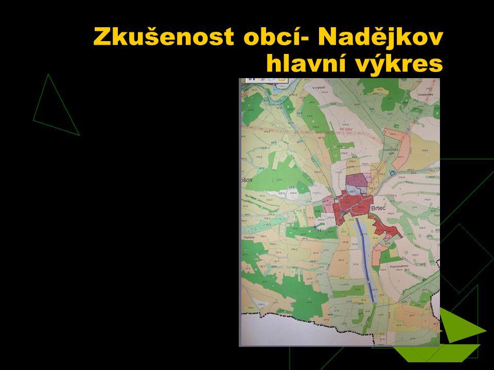 Zkušenost obcí- Nadějkov hlavní výkres