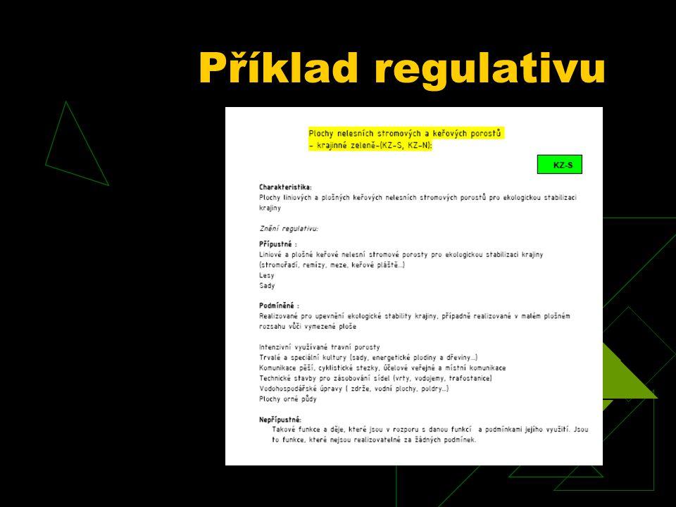 Příklad regulativu