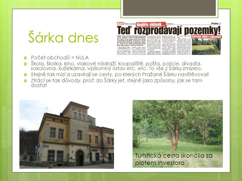 Vize ochrany a rozvoje Šárky  Ve 21.