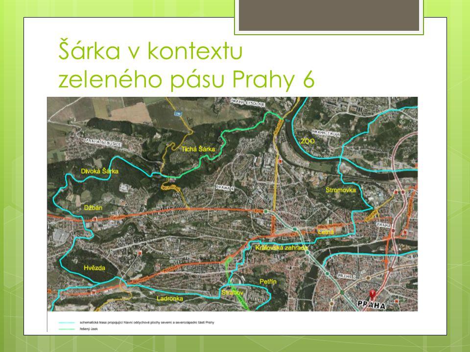 Šárka v kontextu zeleného pásu Prahy 6