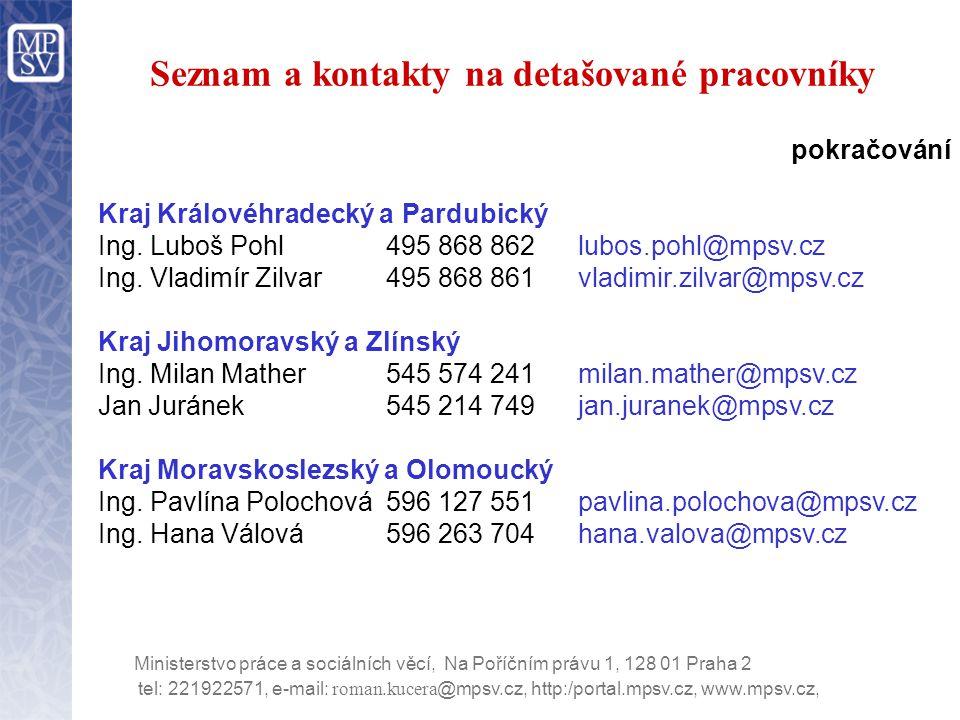 tel: 221922571, e-mail: roman.kucera @mpsv.cz, http:/portal.mpsv.cz, www.mpsv.cz, Ministerstvo práce a sociálních věcí, Na Poříčním právu 1, 128 01 Praha 2 Termíny dodávek HW PC (HP COMPAQ dc7600 sff)) Objednáno 2.500 kusů, dodání do 5.11.