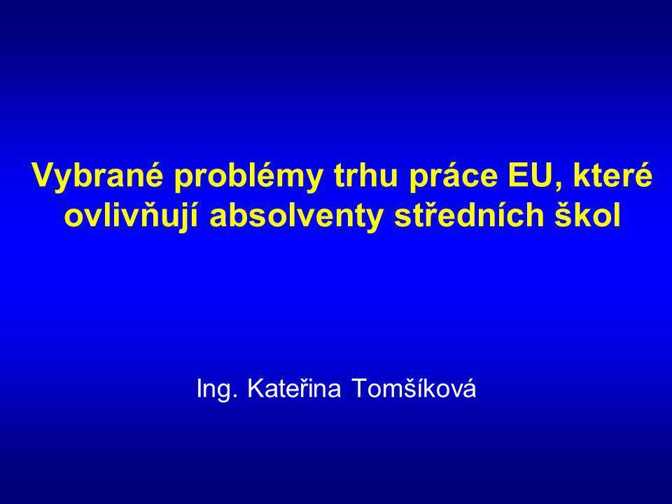 Vybrané problémy trhu práce EU, které ovlivňují absolventy středních škol Ing. Kateřina Tomšíková
