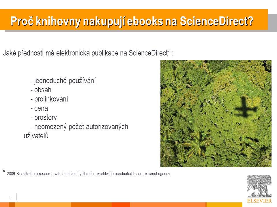 5 Proč knihovny nakupují ebooks na ScienceDirect.
