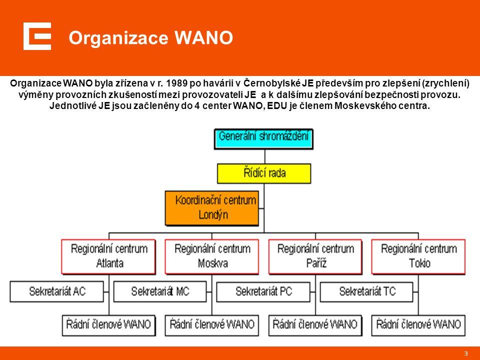 3 Organizace WANO Organizace WANO byla zřízena v r.