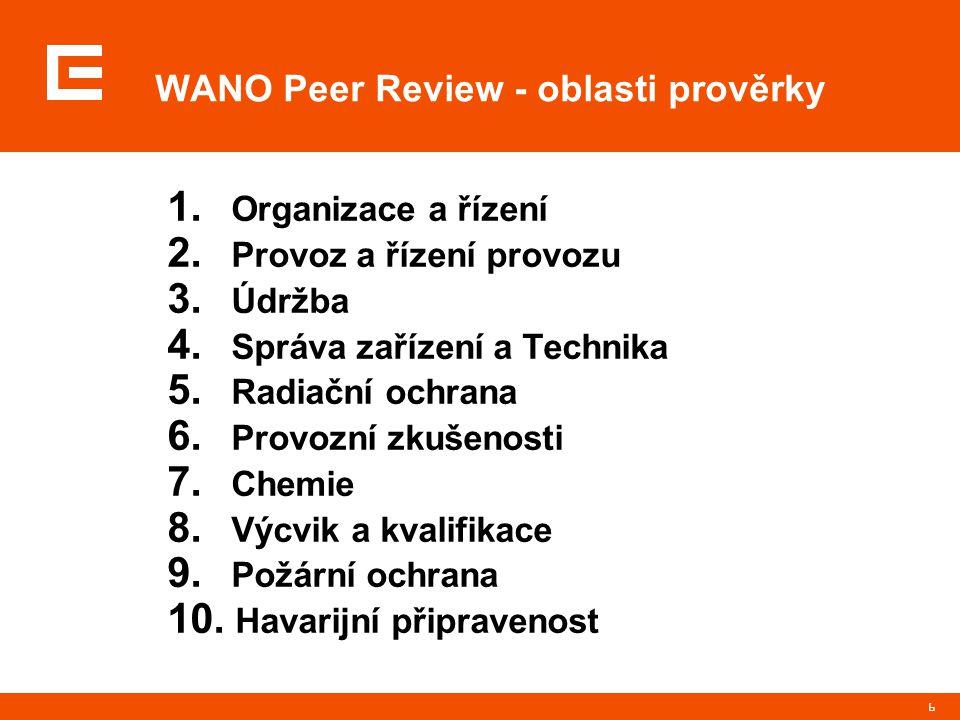 6 1. Organizace a řízení 2. Provoz a řízení provozu 3.
