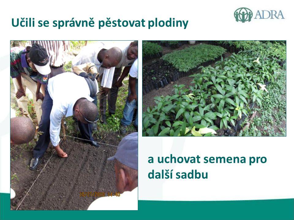 Učili se správně pěstovat plodiny a uchovat semena pro další sadbu