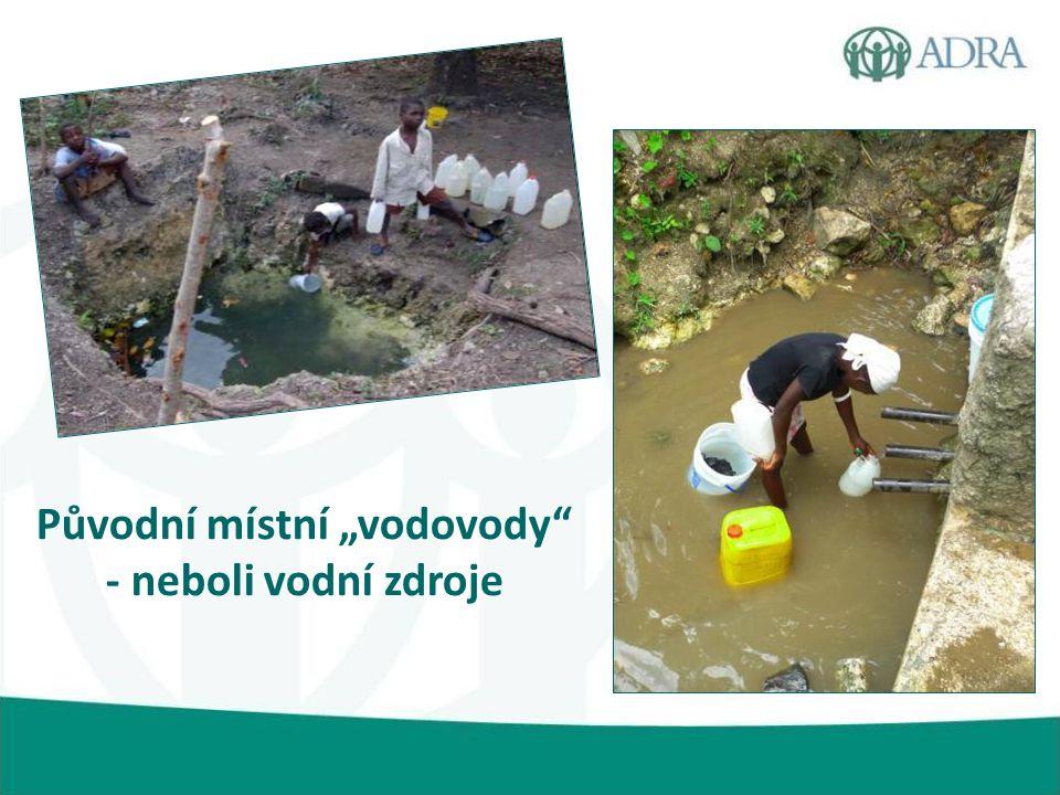 """Původní místní """"vodovody - neboli vodní zdroje"""
