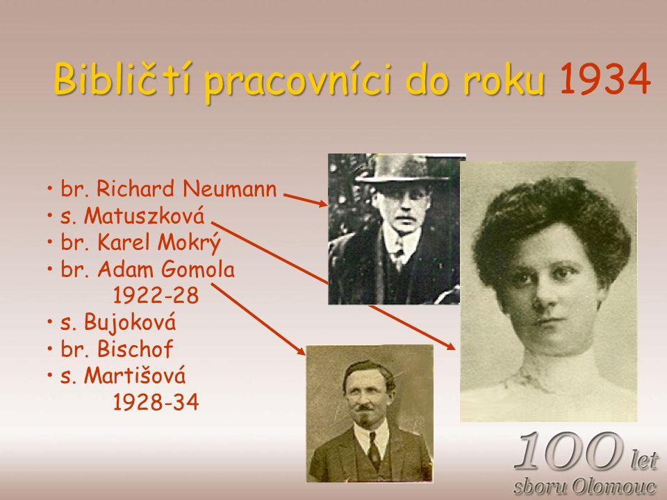 Bibličtí pracovníci do roku Bibličtí pracovníci do roku 1934 br.