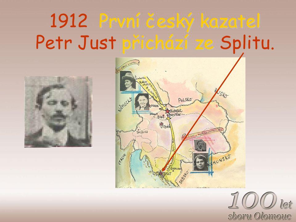 První český kazatel přichází ze 1912 První český kazatel Petr Just přichází ze Splitu.