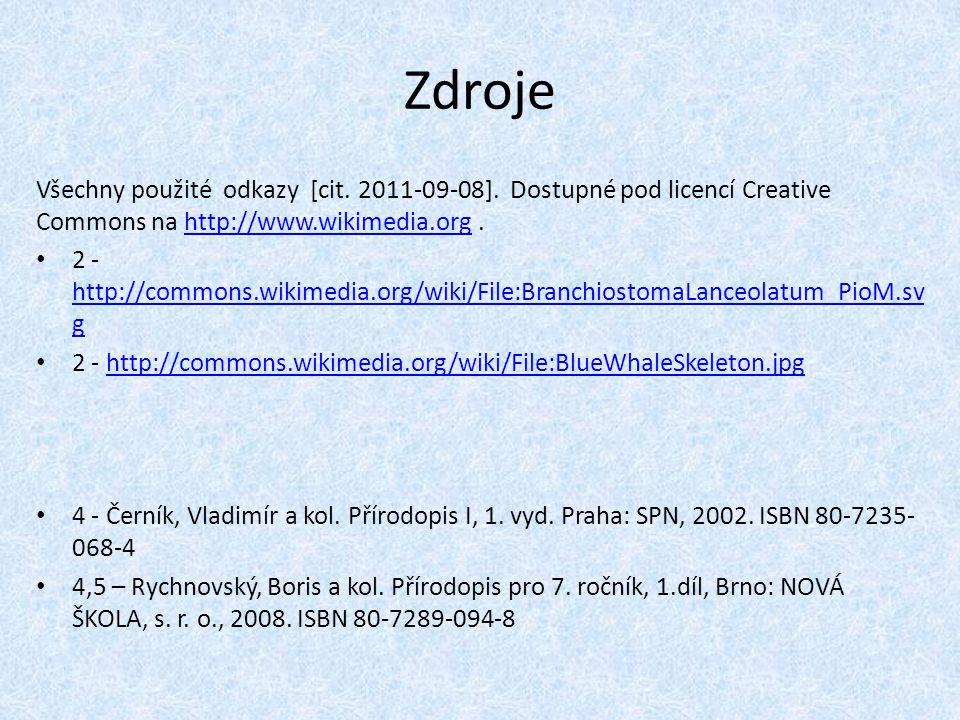 Zdroje Všechny použité odkazy [cit.2011-09-08].
