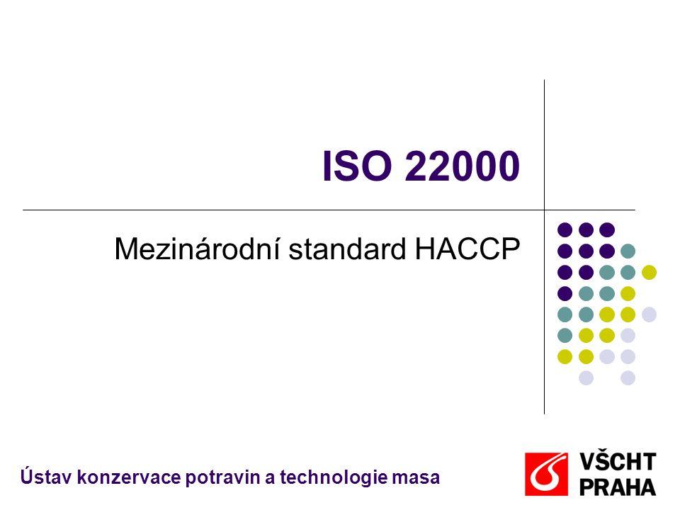 ISO 22000 Mezinárodní standard HACCP Ústav konzervace potravin a technologie masa