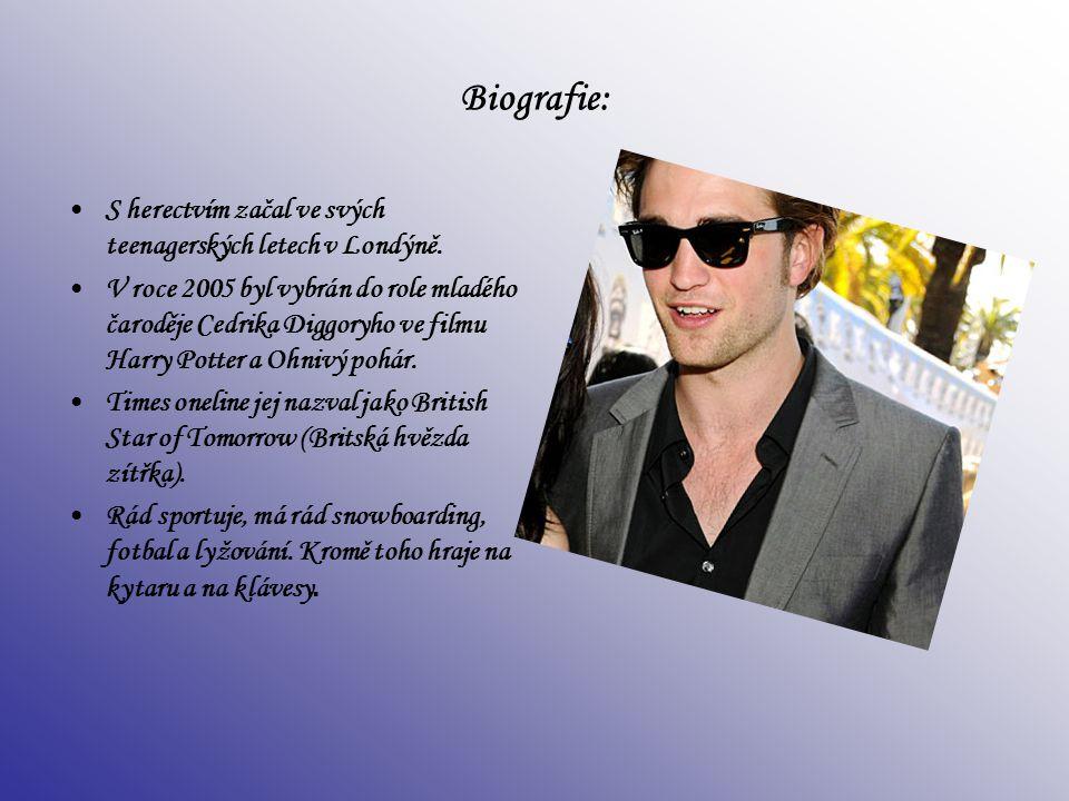 Biografie: S herectvím začal ve svých teenagerských letech v Londýně. V roce 2005 byl vybrán do role mladého čaroděje Cedrika Diggoryho ve filmu Harry