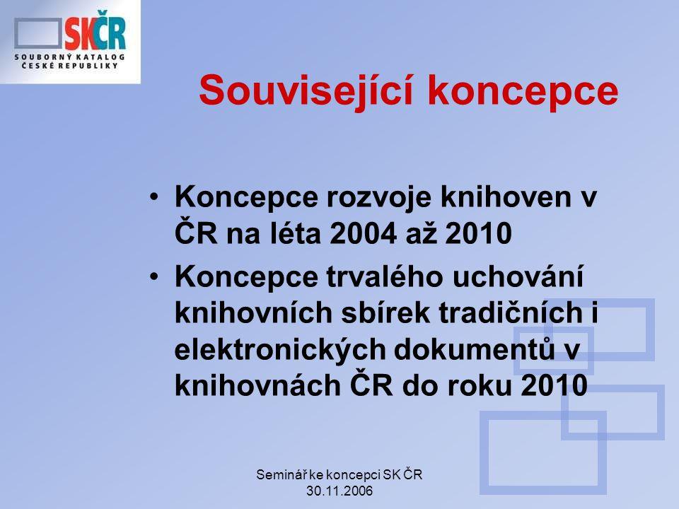 Závěr Věříme, že postupná realizace výše popsaných dílčích cílů umožní do roku 2010 vytvořit ze SK ČR základní nástroj pro zjišťování a získávaní klasických i digitálních dokumentů v knihovnách ČR a pro vzájemné sdílení služeb knihoven.