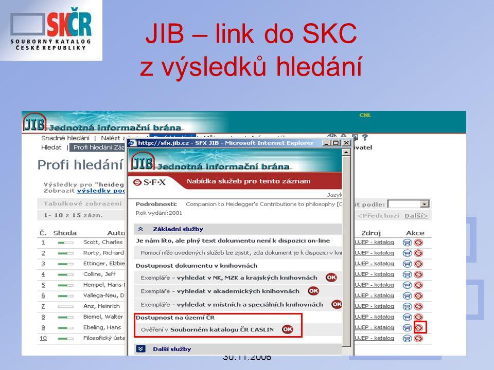 Seminář ke koncepci SK ČR 30.11.2006 JIB – link do SKC z výsledků hledání