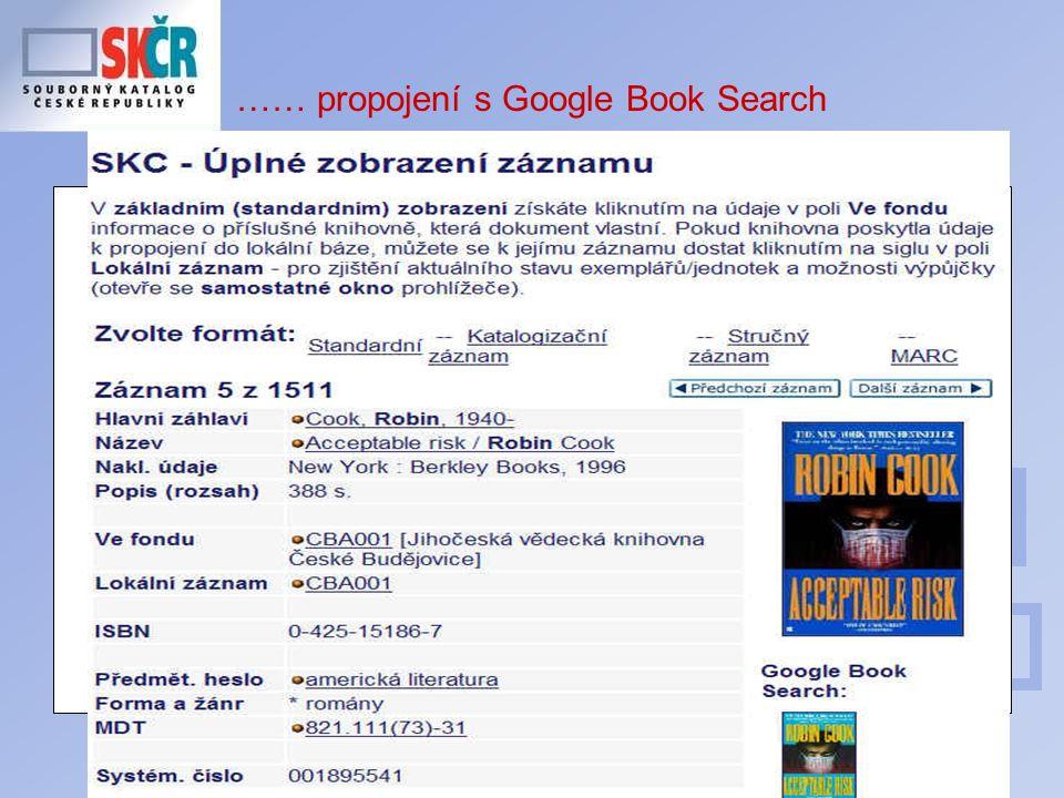 21 …… propojení s Google Book Search