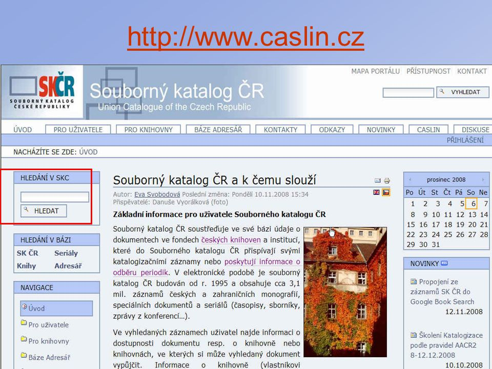 25 Export záznamů ze SK ČR