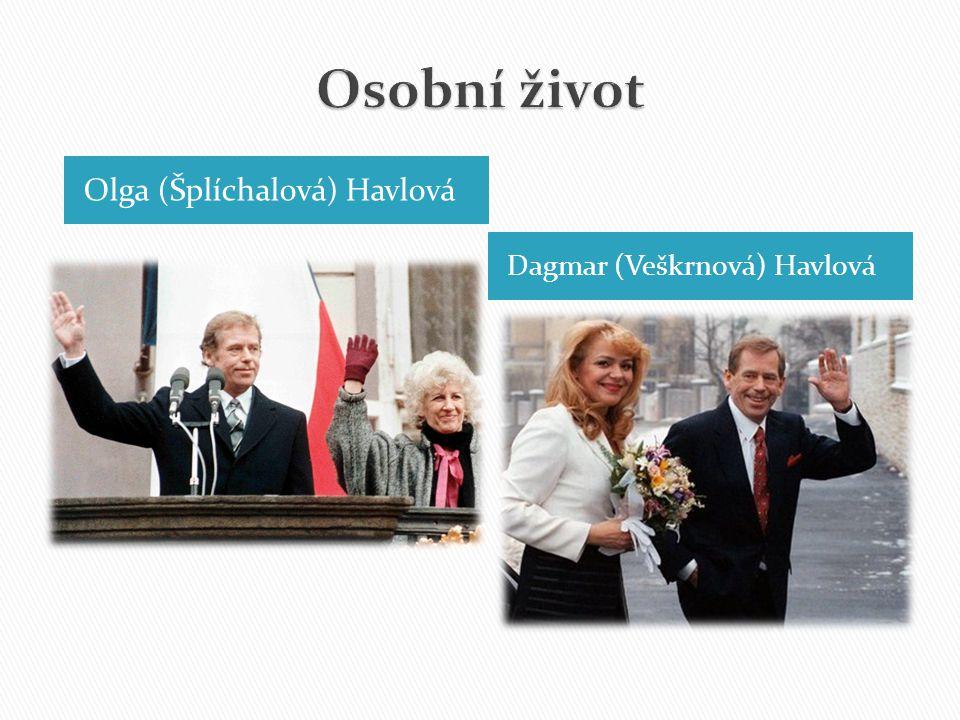Olga (Šplíchalová) Havlová Dagmar (Veškrnová) Havlová