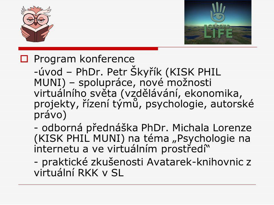  Program konference -úvod – PhDr.