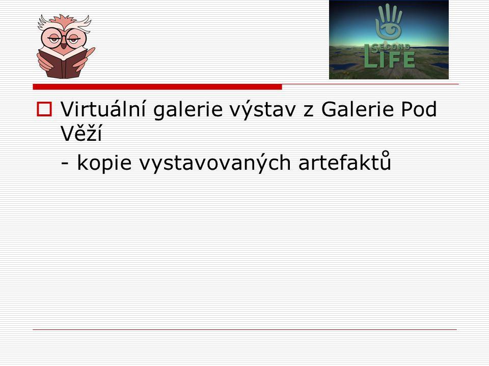  Virtuální galerie výstav z Galerie Pod Věží - kopie vystavovaných artefaktů