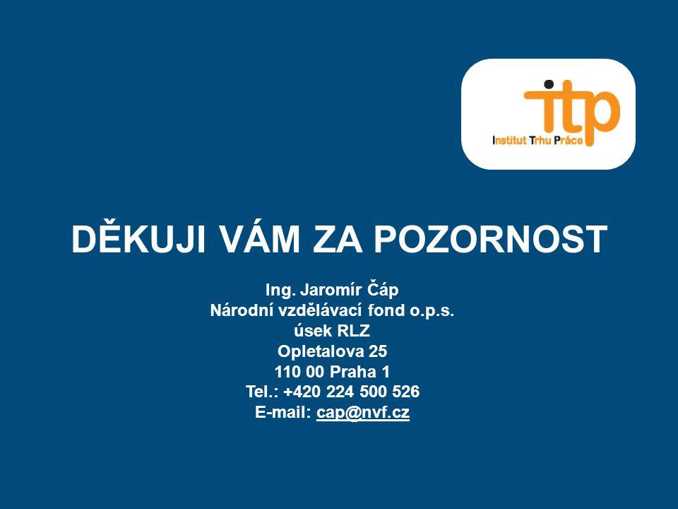DĚKUJI VÁM ZA POZORNOST Ing. Jaromír Čáp Národní vzdělávací fond o.p.s.