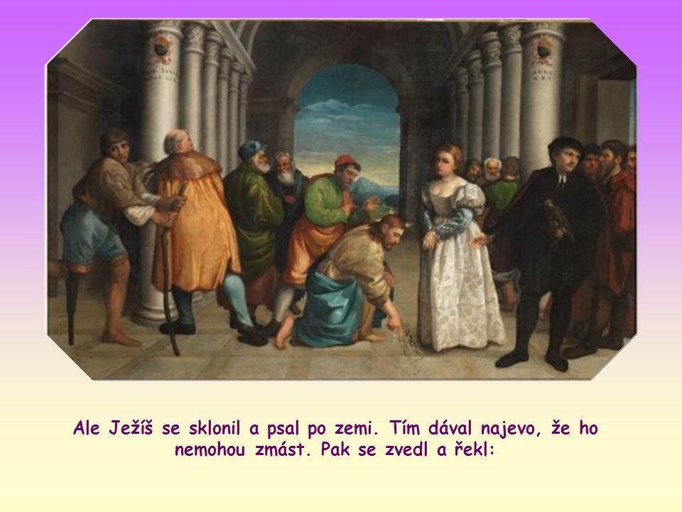 Kdyby však Ježíš potvrdil rozsudek smrti, přivedli by ho do rozporu s jeho učením o Božím milosrdenství vůči hříšníkům.