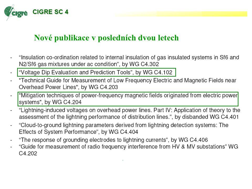CIGRE SC 4 Nové publikace v posledních dvou letech