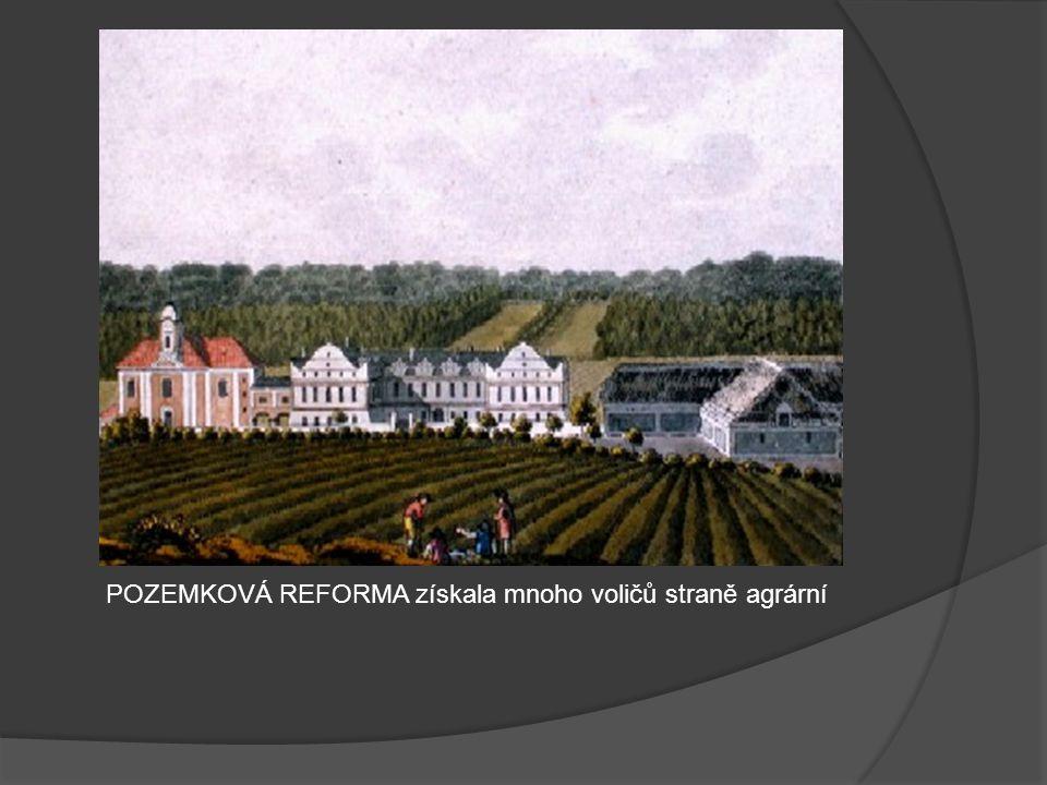 POZEMKOVÁ REFORMA získala mnoho voličů straně agrární