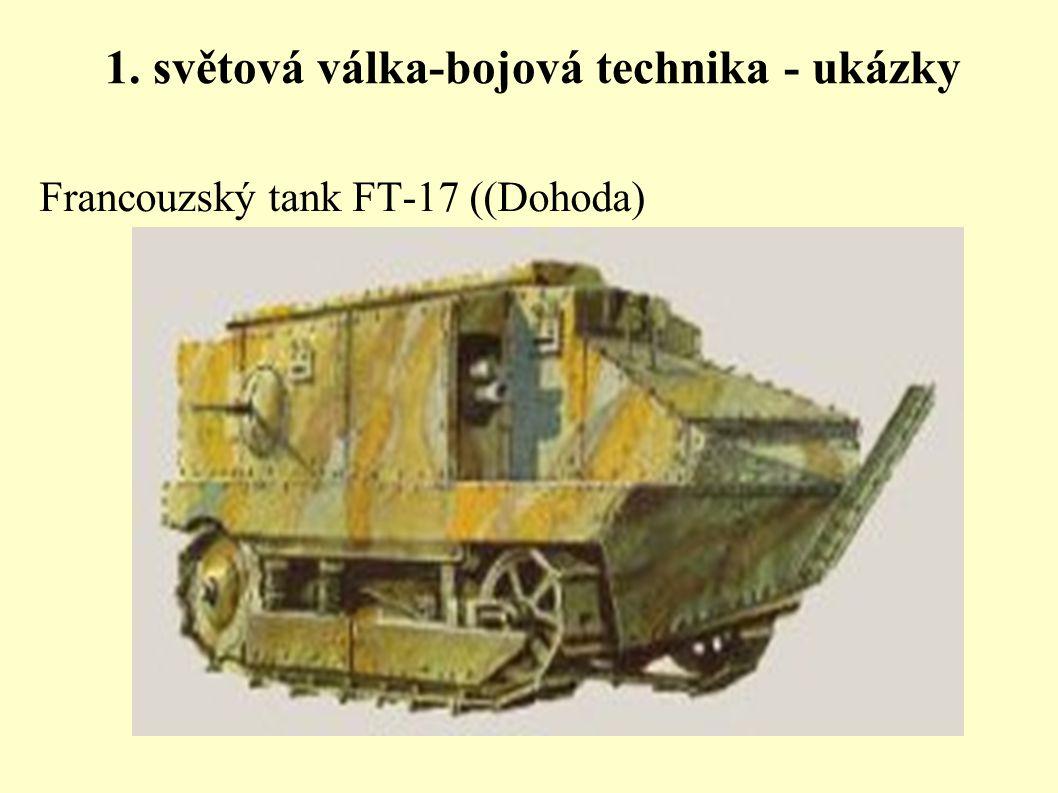 1. světová válka-bojová technika - ukázky Francouzský tank FT-17 ((Dohoda)