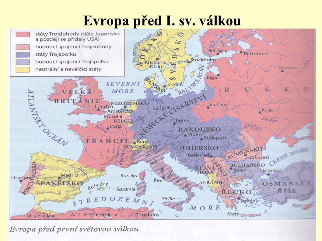 Evropa před I. sv. válkou.