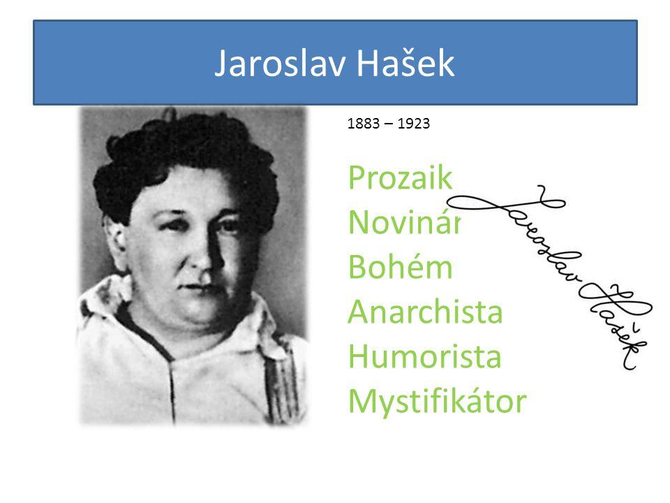 Jaroslav Hašek 1883 – 1923 Prozaik Novinář Bohém Anarchista Humorista Mystifikátor