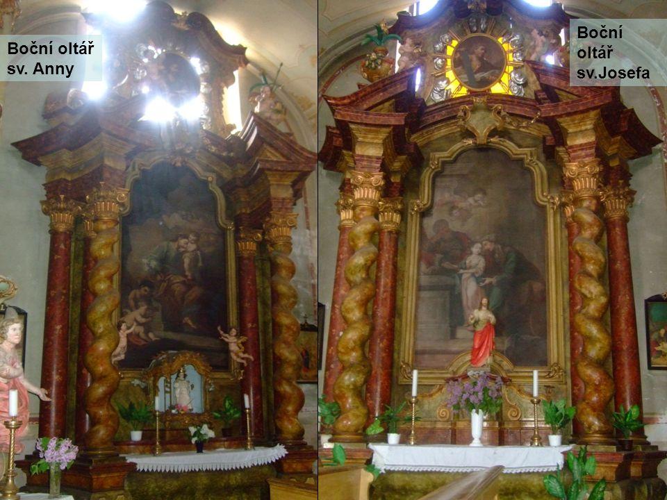 Boční oltář sv. Anny Boční oltář sv.Josefa