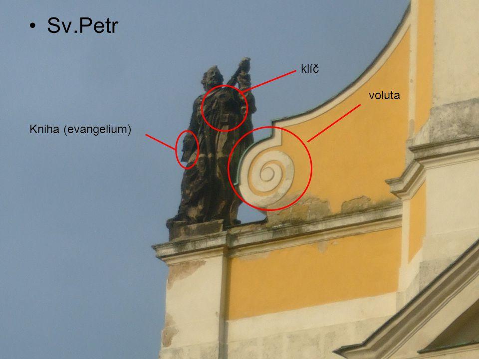 Sv.Petr klíč Kniha (evangelium) voluta