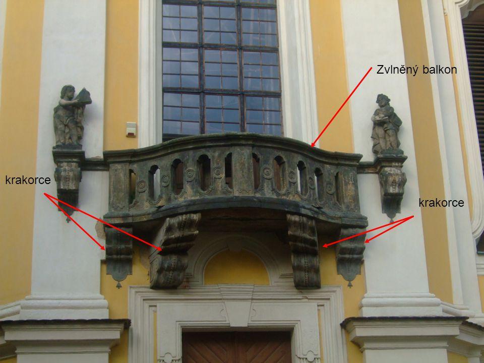 Zvlněný balkon krakorce