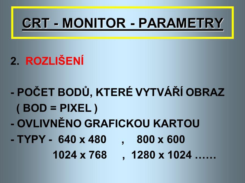 CRT - MONITOR - PARAMETRY 1.