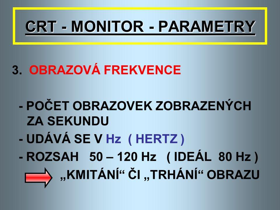 CRT - MONITOR - PARAMETRY 2. ROZLIŠENÍ